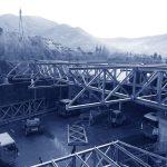 Copertura metallica presso impianto di produzione calce – Direzione dei montaggi_C-SPIN